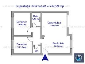 Apartament de vânzare 3 camere în Ploiesti, Cioceanu