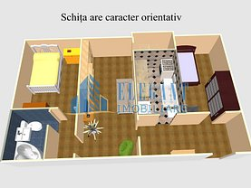 Apartament de vânzare 3 camere în Craiova, 1 Mai