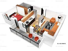 Apartament de vânzare 2 camere în Iasi, Cug