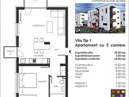 Apartament de vânzare, 2 camere, în Selimbar