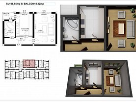 Apartament de vânzare 2 camere în Ipotesti