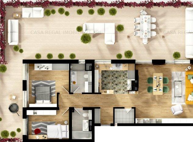 Penthouse SC 235 mp-Anastasia Residence Nufarul - imaginea 1