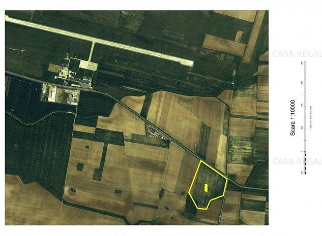 INVESTITIE: Teren zona Aeroport, front la DN79 - imaginea 1