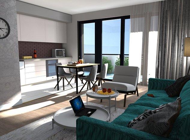 Living IrisArmoni: Living apartament nou de vanzare din Iris Armonie.
