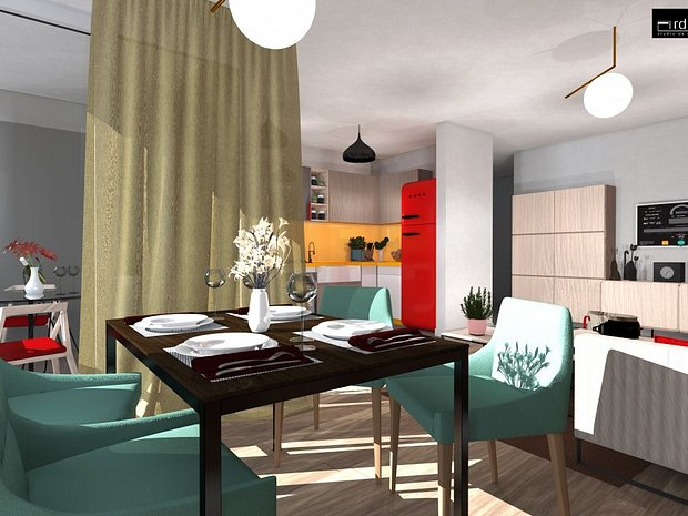 Apartament nou de vanzare, 2 camere decomandate, Iris Armoniei - imaginea 1
