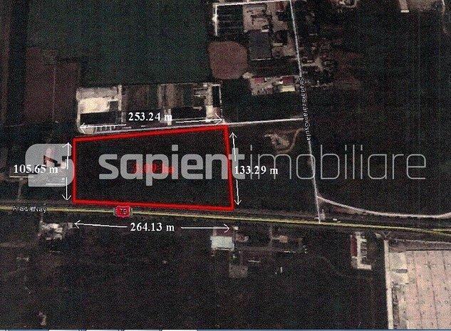 Teren cu destinatie comerciala si de servicii, Calea Aradului - imaginea 1