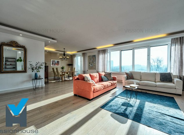 Inchiriere apartament 5 camere Barbu Vacarescu - Parcul Circului - imaginea 1