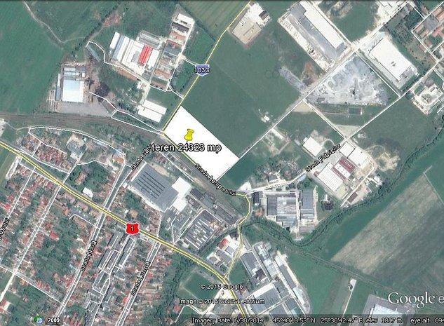 Teren 24323 mp Ghimbav : Plan de incadrare in zona