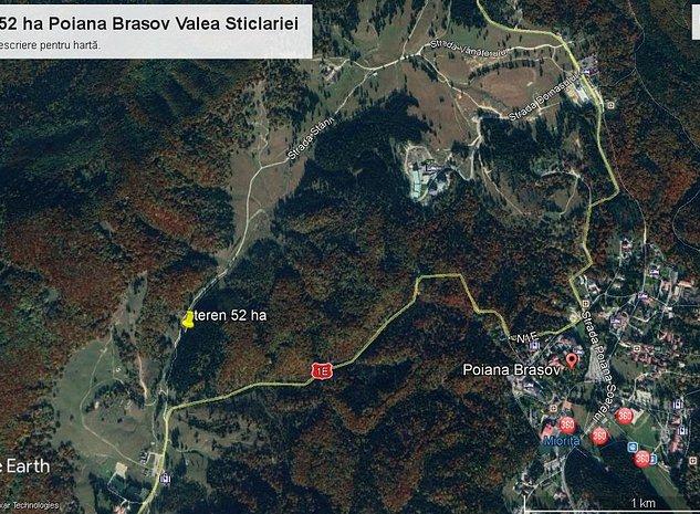 Teren 52 ha Poiana Brasov Valea Sticlariei  - imaginea 1