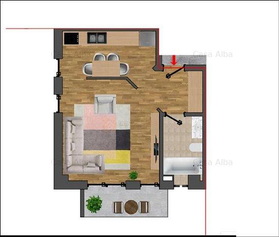 Pacurari - Kaufland, locuinta noua cu 1 camera, dotari de top - imaginea 1