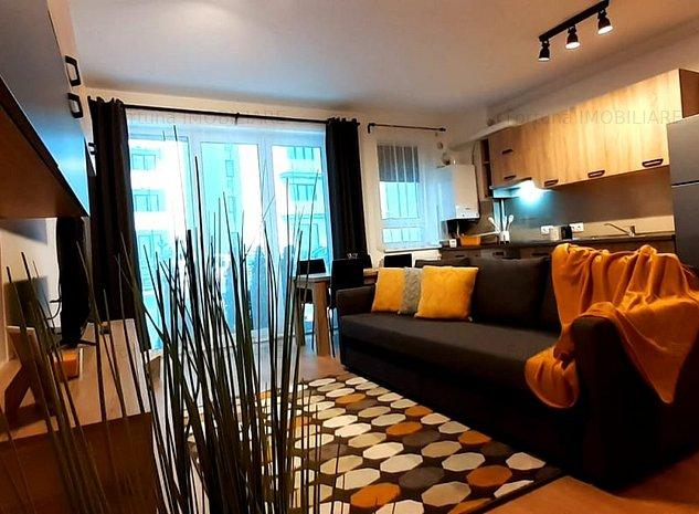 Apartament 2 camere, open space, in bloc nou, mobilat si utilat - imaginea 1