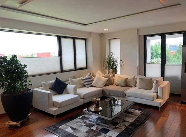 Pipera, apartament lux mobilat, in imobil cu piscina - imaginea 1
