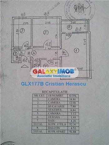 Ap 2 cam decomandat 60 mp et 3/8 bloc 85 Teiul Doamnei str Brasoveni - imaginea 1