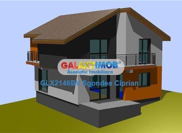 Casa Individuala Bod 140 mp Utili 550 mp teren toate utilitatile - imaginea 1
