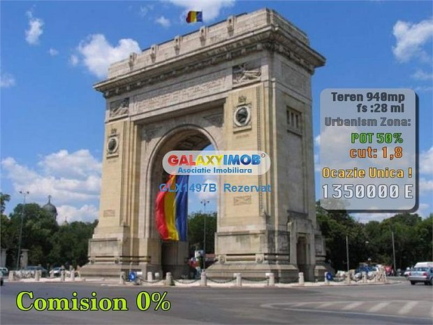 Arcul de Triumf Teren Rezidential-Birouri Premium Ocazie Unica!!! - imaginea 1