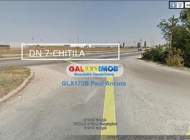 Vanzare teren la  DN7 Chitila Buftea Industrial - imaginea 1