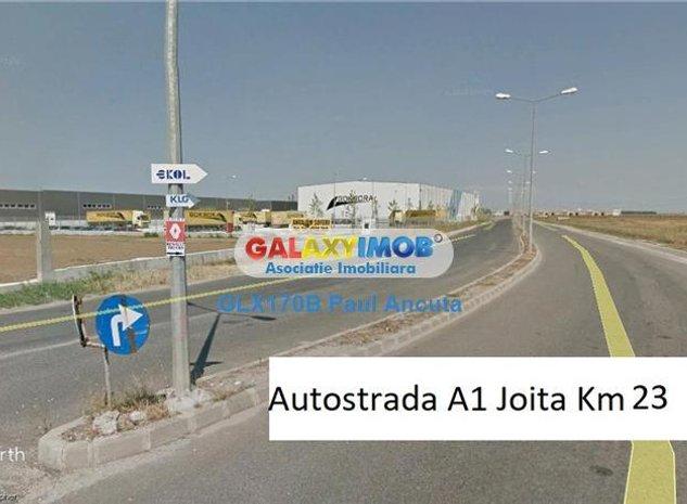 Vanzare  Teren 18100 mp La sosea acces Nod Autostrada A1 Joita - imaginea 1