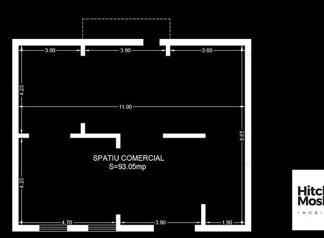 Spatiu comercial de inchiriat - Giroc - 93 mpu - imaginea 1