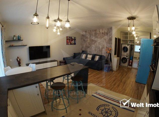 Apartament 2 camere, 56mp utili cu 10mp terasa, mobilat lux, parcare, Buna Ziua - imaginea 1