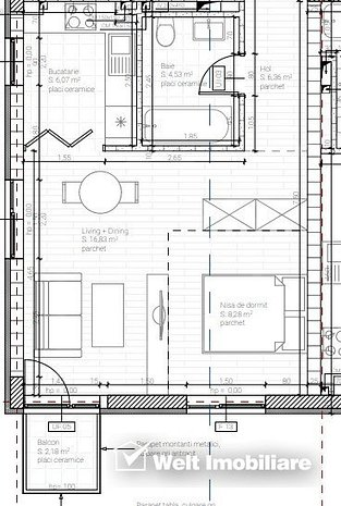 Apartament 1 camera, in Dambul Rotund, proiect nou, zona accesibila - imaginea 1