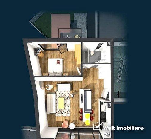 Apartament de vanzare, 2 camere, 47 mp, Centru - imaginea 1