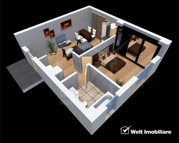Apartament 2 camere, bloc nou, zona Tetarom1 - imaginea 1