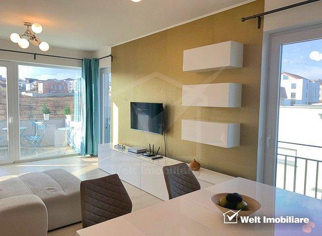 Apartament cu 2 camere, imobil nou, ultrafinisat, zona linistita, orientare suda - imaginea 1