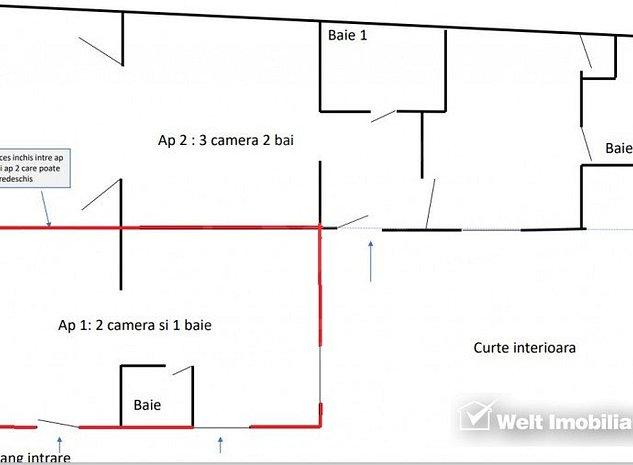 Apartament 2 camere, Centru - imaginea 1