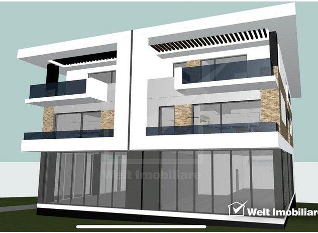 Apartament in bloc tip vila, 91mp + 19mp balcoane, Gheorgheni, zona Iulius Mall - imaginea 1