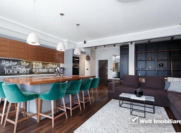 Penthouse 92 mp, terase generoase, lux, parcare subterana, Centru - imaginea 1