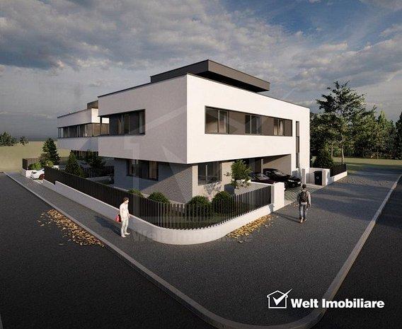 Duplex 120 mp, 3 dormitoare, 3 bai, 200 mp teren, terasa 60 mp, Iris - imaginea 1