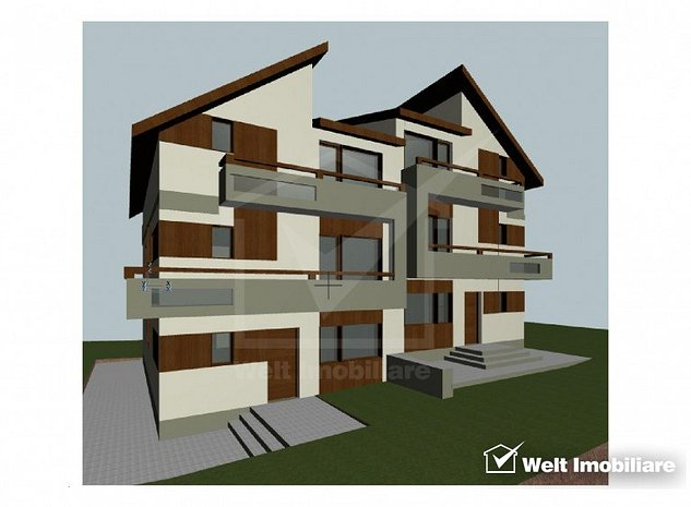 Vanzare duplex, Dambu Rotund, 180 mp, 5 bai, semifinisat - imaginea 1