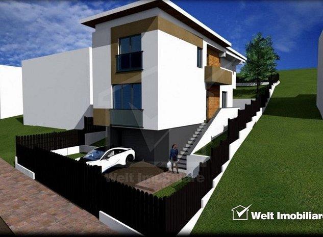 Teren de vanzare cu autorizatie pentru casa individuala, la intrare in Borhanci - imaginea 1