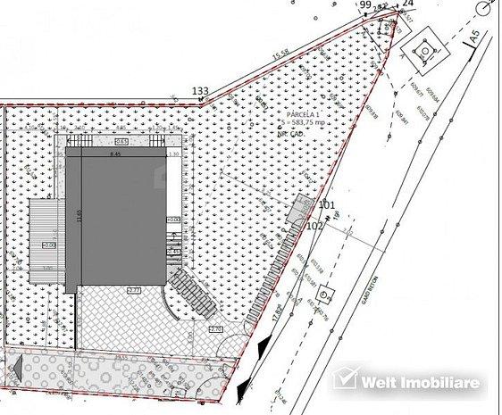 Vanzare teren cu autorizatie pentru casa individuala, Faget, 590 mp, utilitati - imaginea 1