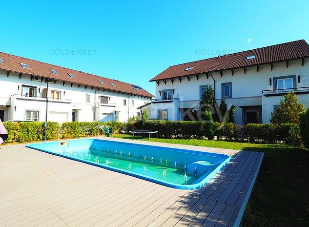 Vila cocheta in cartier rezidential cu piscina comuna, garaj - imaginea 1