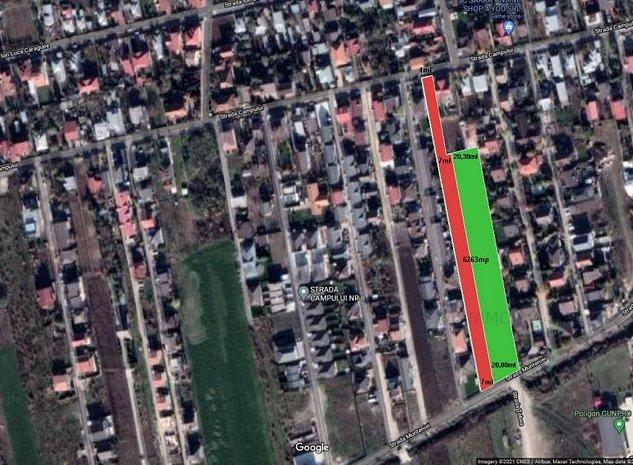 Ideal dezvoltare rezidentiala!  6263 mp LOTIZAT IN 14 LOTURI STRADA DE 7ml!  - imaginea 1