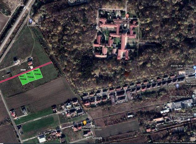 Teren intravilan zona rezidentiala   800mp(754mp utili  ) ,Ana Aslan!  - imaginea 1