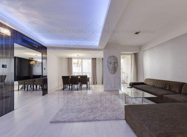 Satul Francez | Apartament 4 camere mobilat LUX, doua locuri parcare - imaginea 1