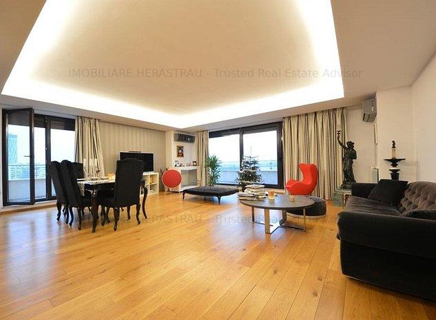 Auctor Bellangero | Penthouse superb cu terasa si gradina | Vedere Lac - imaginea 1