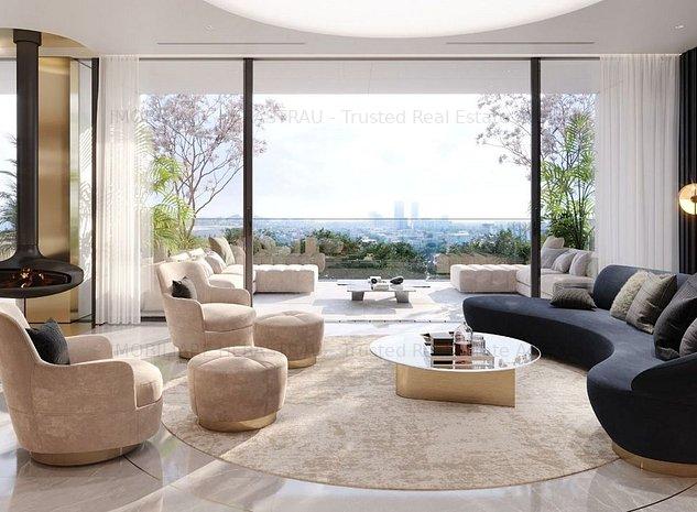 WIN Herastrau Penthouse 5 camere vedere parc, H max. apartament 3,5m,terasa 72mp - imaginea 1