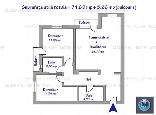 Apartament 3 camere de vanzare, zona Alb: Apartament 3 camere de vanzare, zona Albert, 71.89 mp