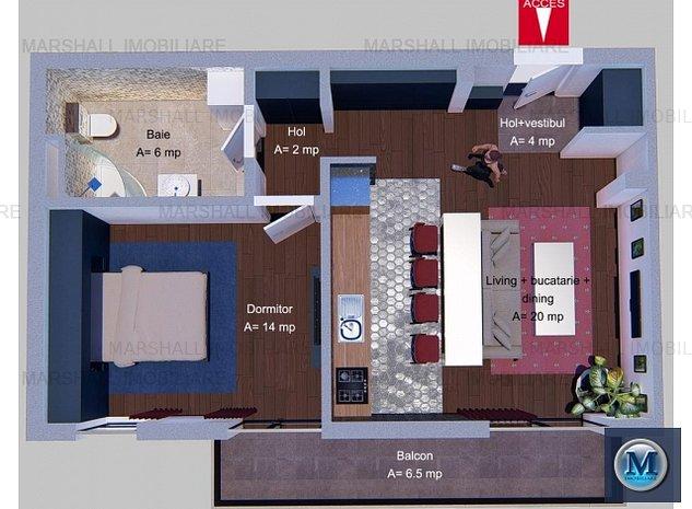 Apartament 2 camere de vanzare, zona Alb: Apartament 2 camere de vanzare, zona Albert, 46 mp