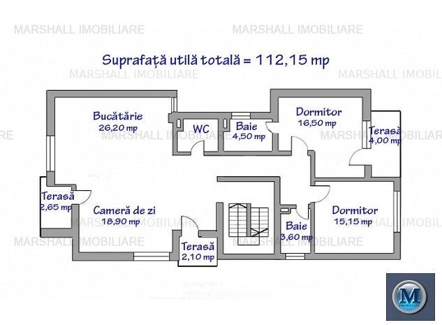 Apartament 3 camere de vanzare, zona Dem: Apartament 3 camere de vanzare, zona Democratiei, 112.15 mp