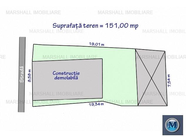 Teren intravilan de vanzare, zona Ultrac: Teren intravilan de vanzare, zona Ultracentral, 151 mp