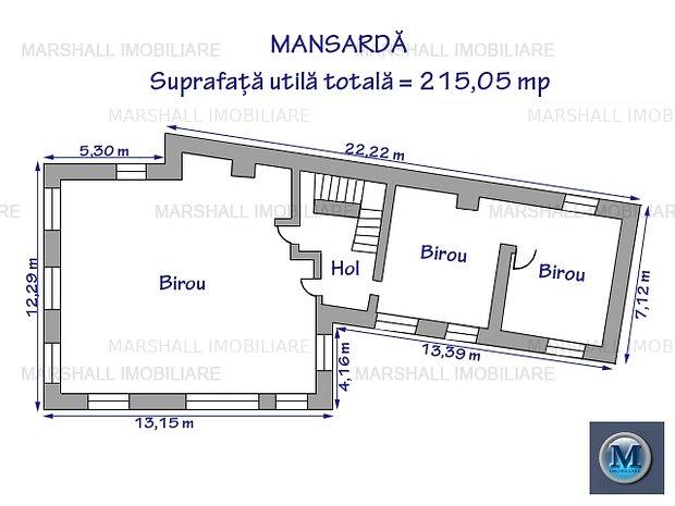 Spatiu  birouri de inchiriat, zona Centr: Spatiu  birouri de inchiriat, zona Central, 215,05 mp