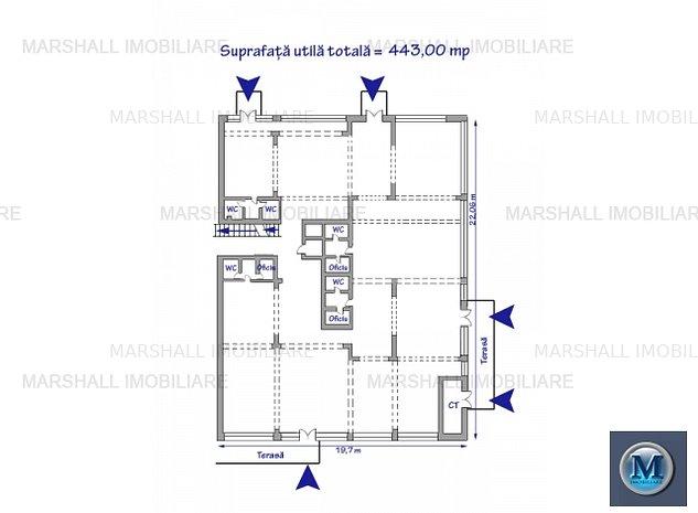Spatiu  birouri de inchiriat, zona Nord,: Spatiu  birouri de inchiriat, zona Nord, 443 mp