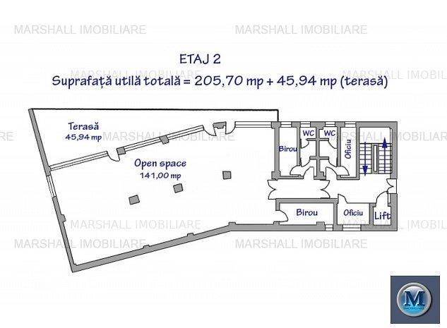 Spatiu birouri de inchiriat, zona Ultra: Spatiu birouri de inchiriat, zona Ultracentral, 205.7 mp