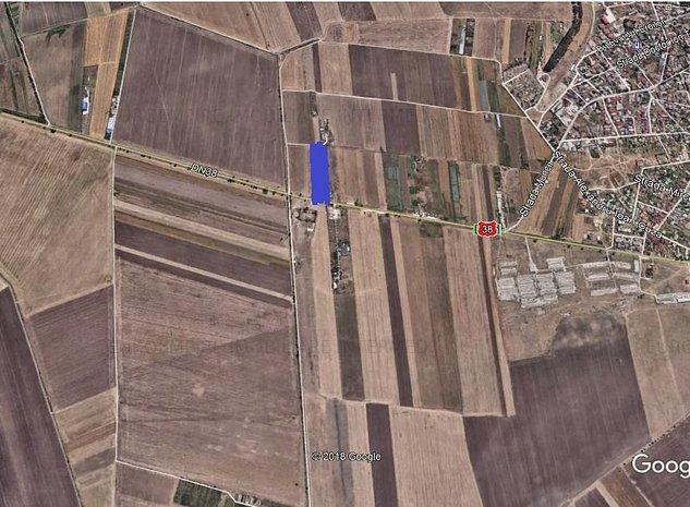 vand teren intre localitatile Agigea si Techirghiol cu deschidere la DN  - imaginea 1