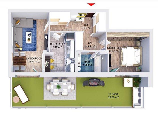 Apartament 2 camere, Predare, Iunie, 2021, Platinum - imaginea 1