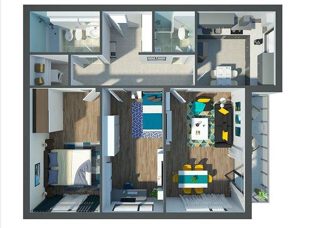 Apartament 3 camere, Platinum Residence - imaginea 1